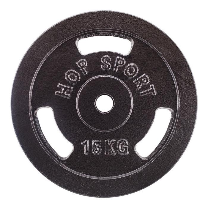Диск чугунный Hop-Sport Strong 15 кг (HS-D9)
