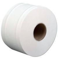 "Бумага туалетная Jumbo d=19 см дл. 120м (супер белая) 2сл. - ТМ ""PRO Service"""