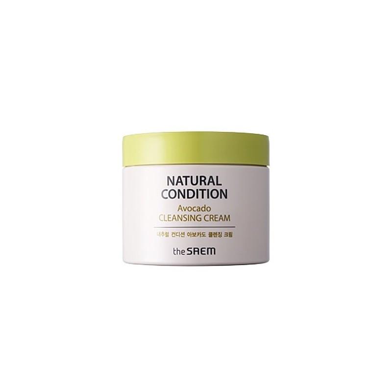 Крем для очищения кожи с авокадо THE SAEM NATURAL CONDITION AVOCADO CLEANSING CREAM, 300 мл.