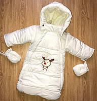 Зимний детский комбинезон/конверт для новорожденного,мешок,мех под овчину , фото 1