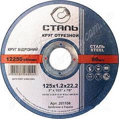Отрезной круг по металлу Сталь 125x1.2x22.2