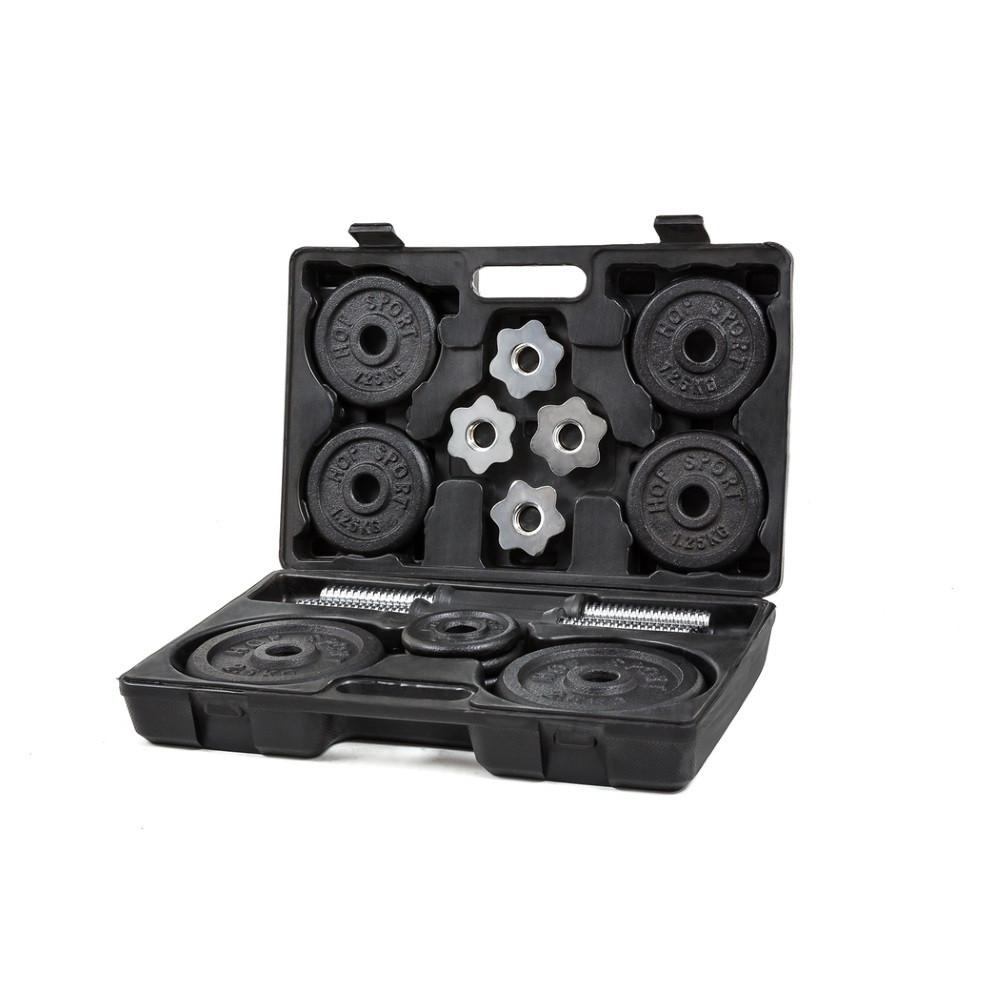 Металлические гантели Hop-Sport 2x10 кг в кейсе (HS-GC2х10Kkg)