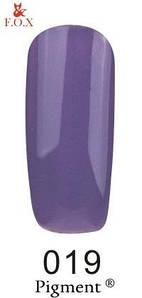 Гель-лак F.O.X. 6 мл Pigment 019 сине фиолетовый , эмаль