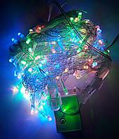 Светодиодная Гирлянда Штора 140 Led 3 х 0,7 м Цветная MixF с Режимом, фото 1