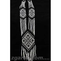 Гердан женский в бело-черном цвете