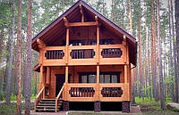 Дом деревянный из профилированного клееного бруса 9х8 м, фото 1