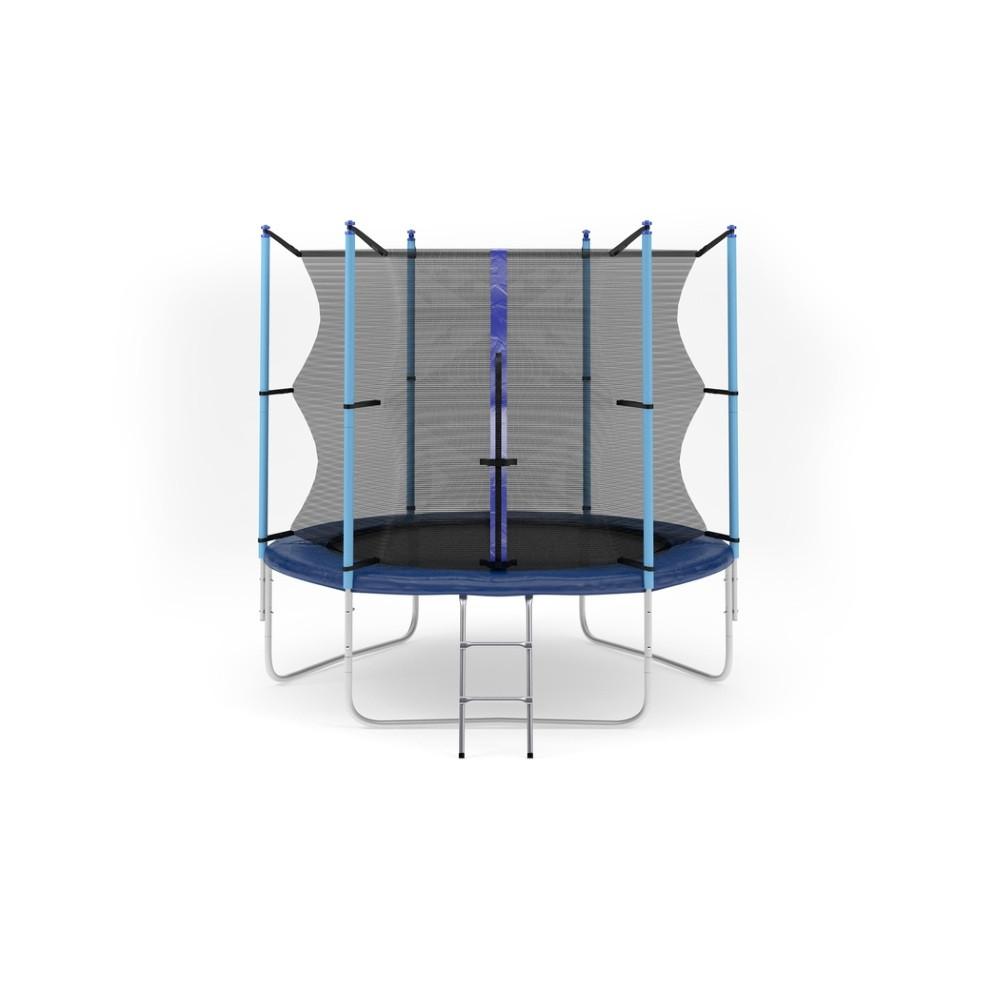 Батут с лестницей Hop-Sport 8FT (244 см) с внутренней сеткой (HS-BATUT-8FT-VS)
