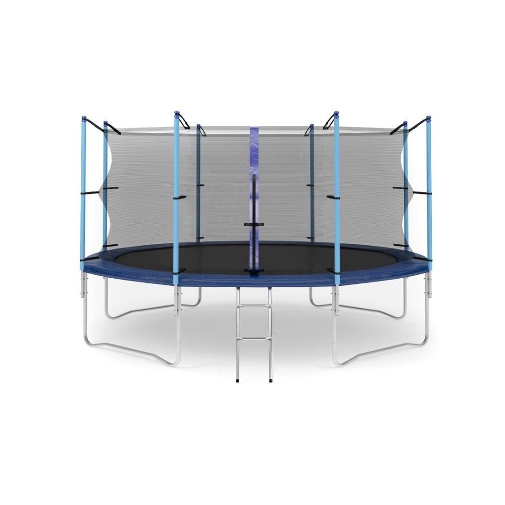 Батут с лестницей Hop-Sport 14FT (427 см) с внутренней сеткой (HS-BATUT-14FT-VS)