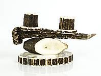 Винтажный подсвечник, натуральный рог, Германия, ручная работа, фото 1