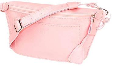 Сумка на пояс, Level, Лодочка-pink, натуральная кожа, розовый