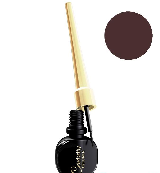 Подводка для глаз Eveline Cosmetics Celebrities Eyeliner коричневая