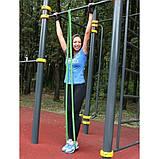 Эспандер резиновый спортивный (резинка для фитнеса, подтягивания, турника) 208х1.3см Profi (MS 1844) Зеленый, фото 2