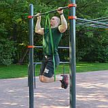 Эспандер резиновый спортивный (резинка для фитнеса, подтягивания, турника) 208х1.3см Profi (MS 1844) Зеленый, фото 3