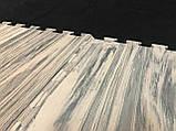 Детский игровой коврик-пазл (мат татами, ласточкин хвост) паркет OSPORT (FI-0131) Темный, фото 2