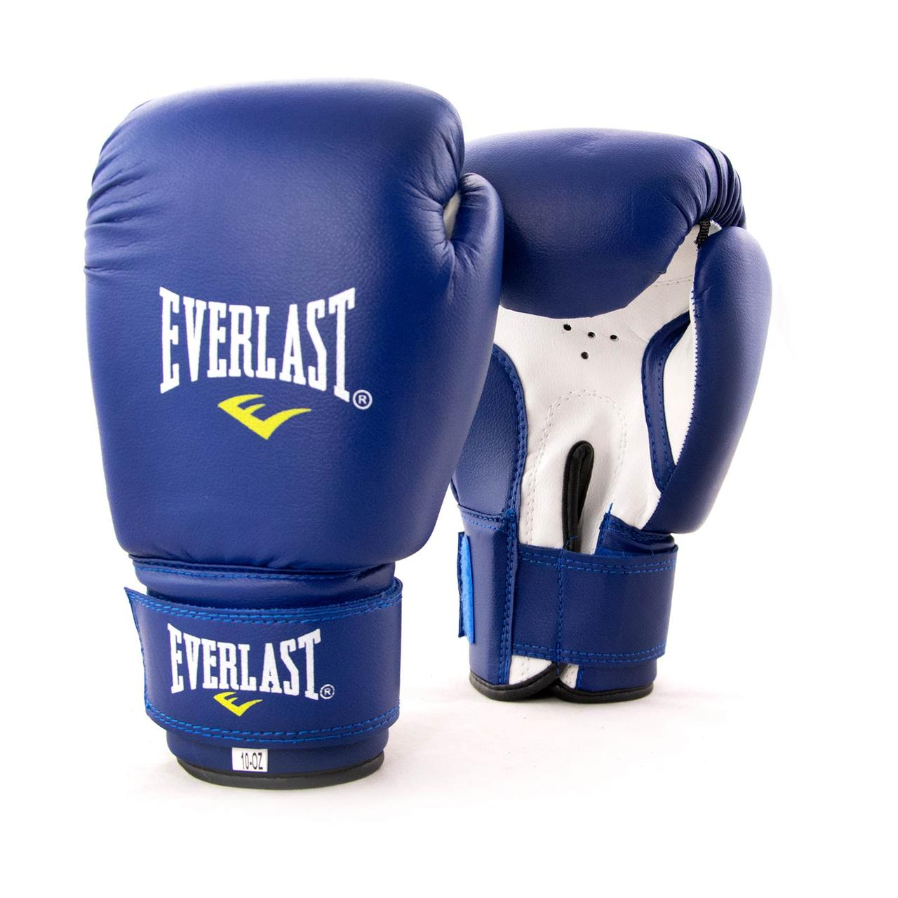 Рукавички боксерські для боксу PVC ЮНІОР (MA-0033) 12 унцій Синій