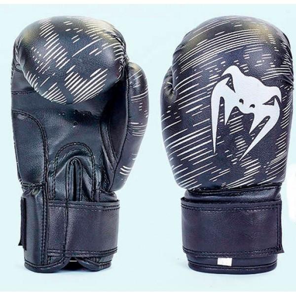 Рукавички боксерські дитячі VENUM (MA-5432) 4 унції Чорний