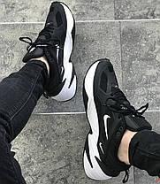 "Кроссовки Nike M2K Tekno ""Black/White"" (Черные/Белые), фото 2"