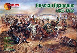 Русские драгуны 1812-1815. Набор пластиковых фигур в масштабе  1/72. MARS 72029