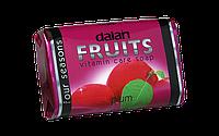 Мыло туалетное Dalan Fruits 125г.  Слива (Витамины и Уход)
