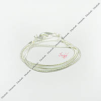 Цепочка змейка 30,5см тонкая цвет серебро готовое изделие для детей для рукоделия