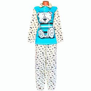 """Пижама женская """"Мишка"""" начесная оптом и в розницу, фото 2"""