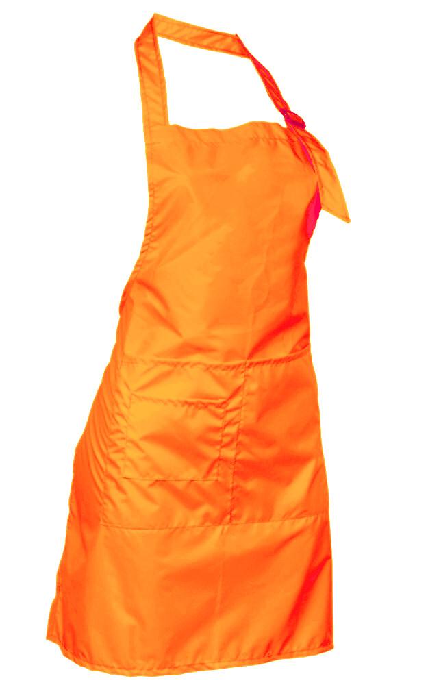 Фартук мастера, неоново-оранжевый