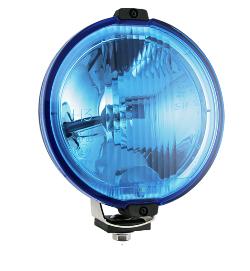 Фара дальнього світла Ø 183 мм Wesem HOS2.38810 з габаритом LED RING блакитна