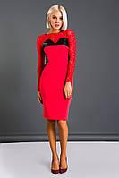 Платье трикотажное с гипюром 23123, фото 1