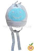 шапка демисезонная для мальчика 3-12 месяцев