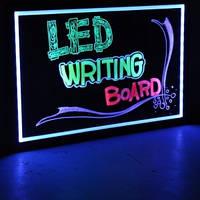 Светодиодная доска Led Fluorescent Board 30*40см (в комплект входит маркер, контроллер, адаптер) , фото 1