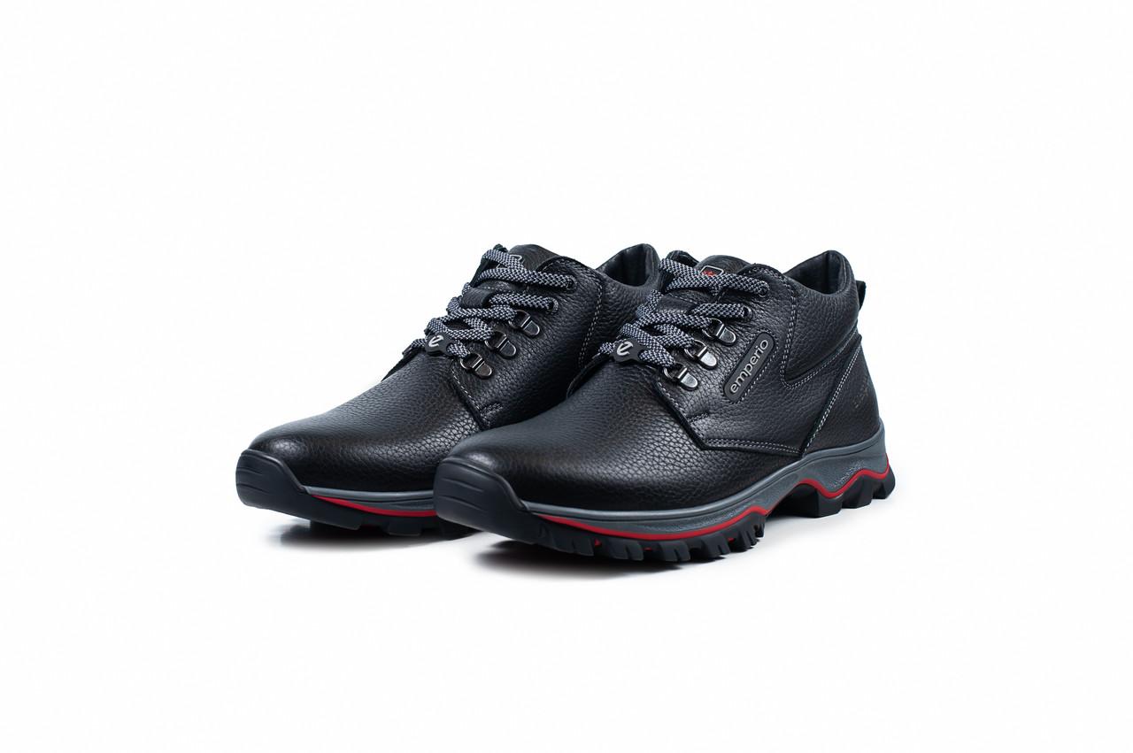 db2986a12 Кожаные черные ботинки на шнурках для мужчин Emperio - интернет-магазин  «F-S» в