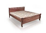 Кровать Флора 1,6х2 м орех, массив ольхи+МДФ