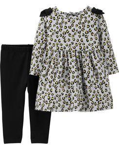 Красивый комплект платье-туника   для девочки 2-ка 6/ 9/ 12/ 18 мес Carters(Картерс )