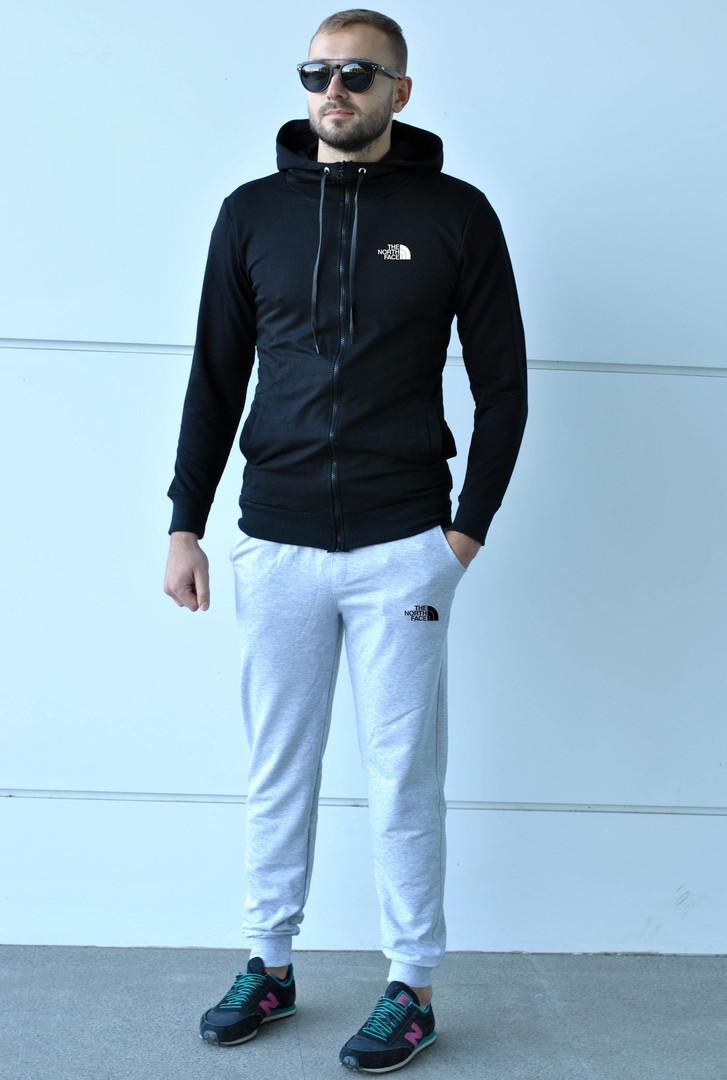 Спортивный костюм The North Face черно-серый топ реплика