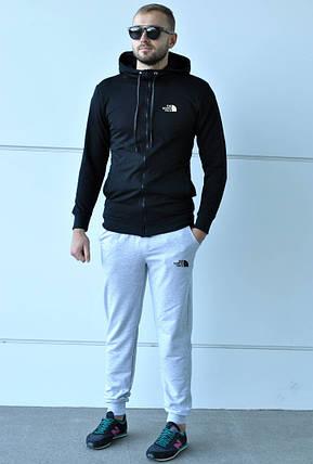 Спортивный костюм The North Face черно-серый топ реплика, фото 2