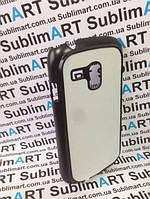 Чехол для 2D сублимации пластиковый матовый на Samsung Galaxy S3 mini черный