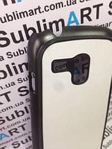 Чехол для 2D сублимации пластиковый матовый на Samsung Galaxy S3 mini черный, фото 2