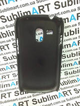 Чехол для 2D сублимации пластиковый матовый на Samsung Galaxy S3 mini черный, фото 3