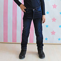 Джинсы с начесом на мальчика цвет темно-синий Турция размер 3,4,5,6,7,8,9,10,11,12 лет