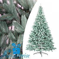 Штучна новорічна лита блакитна ялина БУКОВЕЛЬСЬКА 230 см, фото 1