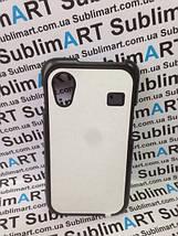 Чехол для 2D сублимации пластиковый матовый на Samsung S5830 Galaxy Ace черный, фото 3