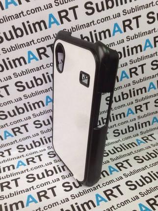 Чехол для 2D сублимации пластиковый матовый на Samsung S5830 Galaxy Ace черный, фото 2