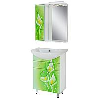 """Комплект мебели для ванной комнаты """"Салатовые каллы"""""""