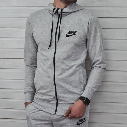 Спортивный костюм Nike серого цвета топ реплика, фото 2