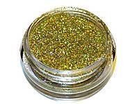 Пыль голографическая золотая Фёрст