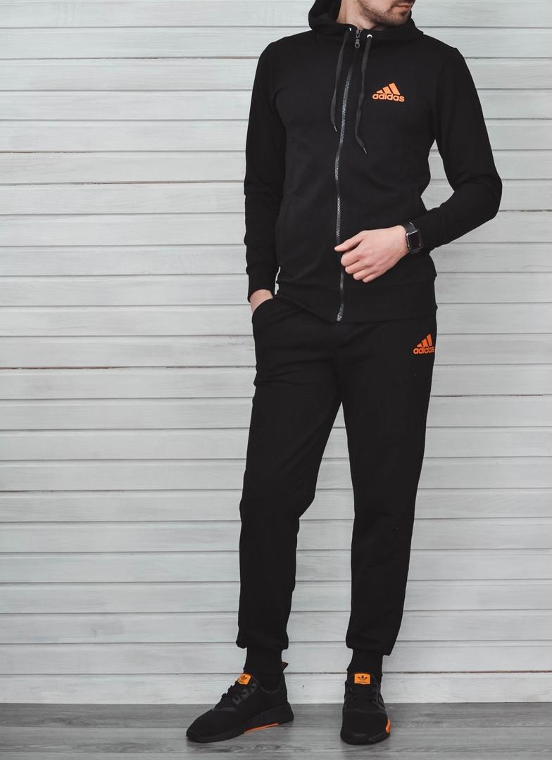 Спортивный Костюм Adidas Черно-оранжевый Топ Реплика — в Категории ... e4a9e6922b3
