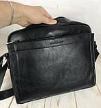 Мужская сумка-портфель для документов David Jones. Мужская классическая сумка. Качественная сумка., фото 8