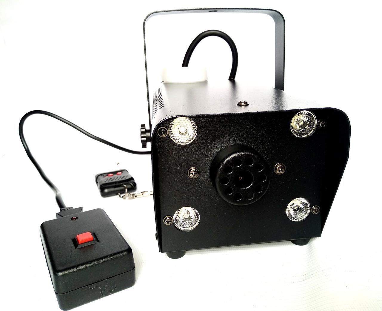 Генератор дыма 400 Вт с пультами управления и подсветкой