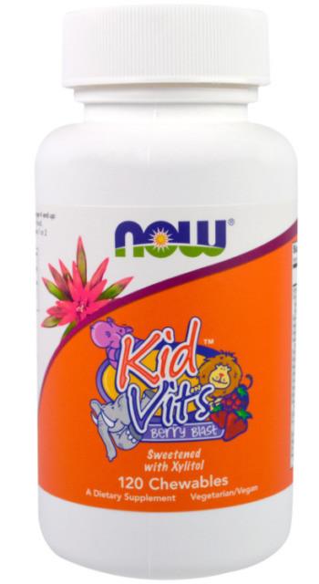 Вітаміни для дітей NOW Foods Kid Vits Berry Blast 120 Chewables