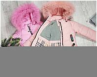 Зимняя куртка на 100% холлофайбере, размер от 98 см до 122 см, LH 18-104
